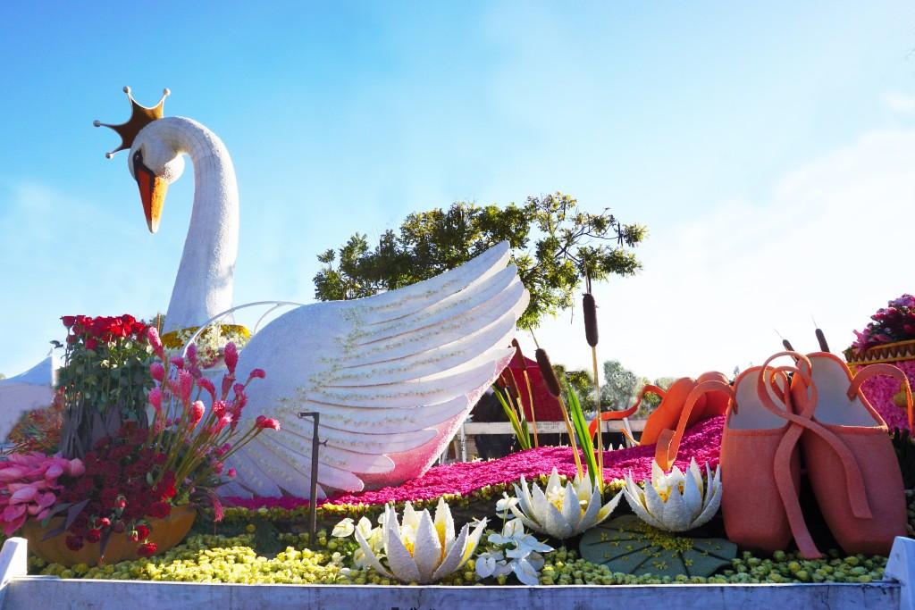 Tournament of Roses Rose Parade Pasadena California Swan